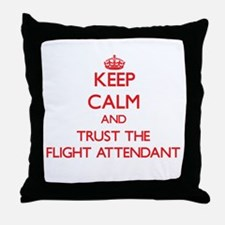 Keep Calm and Trust the Flight Attendant Throw Pil