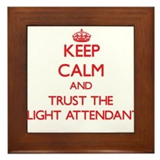 Keep Calm and Trust the Flight Attendant Framed Ti