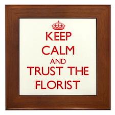 Keep Calm and Trust the Florist Framed Tile