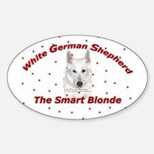 The Smart Blonde Oval Decal