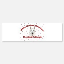 The Smart Blonde Bumper Bumper Bumper Sticker
