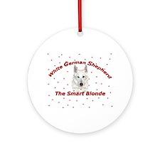The Smart Blonde Ornament (Round)