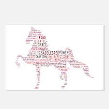 Saddlebred Art In Pink Postcards (Package Of 8) Po