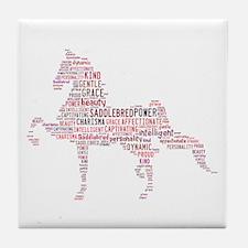 Saddlebred Art In Pink Tile Coaster
