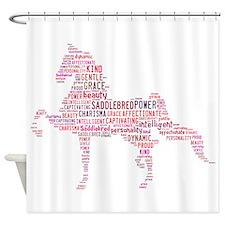 Saddlebred Art In Pink Shower Curtain