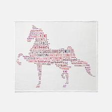 Saddlebred Art In Pink Throw Blanket