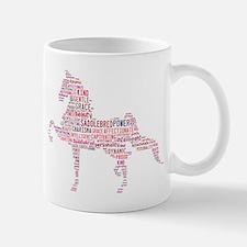 Saddlebred Art in Pink Mugs