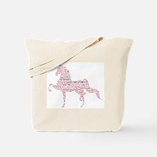 Saddlebred Art in Pink Tote Bag
