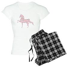 Saddlebred Art in Pink Pajamas