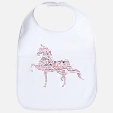 Saddlebred Art in Pink Bib