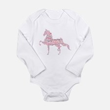 Saddlebred Art in Pink Body Suit