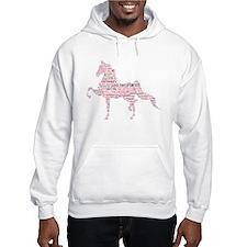 Saddlebred Art in Pink Hoodie