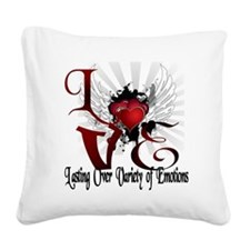 Ray of hearts Square Canvas Pillow