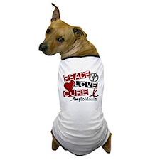 Peace Love Cure Amyloidosis Dog T-Shirt