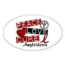 Peace Love Cure Amyloidosis Decal