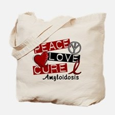 Peace Love Cure Amyloidosis Tote Bag