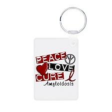 Peace Love Cure Amyloidosi Keychains