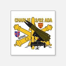 "Charlie 2/62 ADA Square Sticker 3"" x 3"""