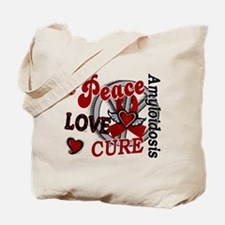 Peace Love Cure 2 Amyloidosis Tote Bag