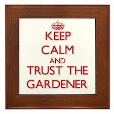 Keep Calm and Trust the Gardener Framed Tile