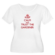 Keep Calm and Trust the Gardener Plus Size T-Shirt