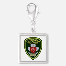 lithuanian scout Silver Square Charm