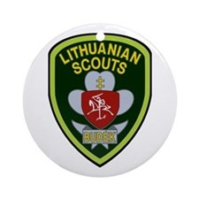 lithuanian scout Ornament (Round)