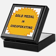 Gold Medal in Cheapskating Keepsake Box