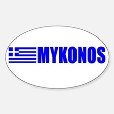 Mykonos, Greece Oval Decal