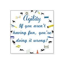 Dog Agility Fun Sticker