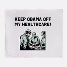 Obama Off My Health Care Throw Blanket