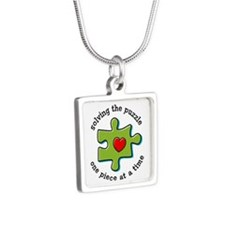 Solving The Puzzlement Silver Square Necklace