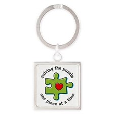Solving The Puzzlement Square Keychain
