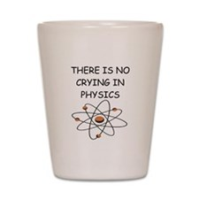 physics joke Shot Glass