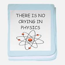 physics joke baby blanket