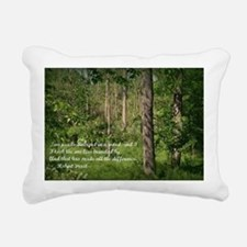 The Road Not Taken Rectangular Canvas Pillow