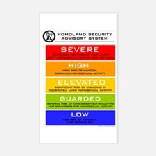 Dept. of Homoland Security Sticker (Rect.)