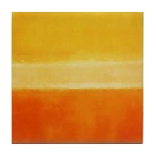 ROTHKO IN YELLOW  ORANGE Tile Coaster