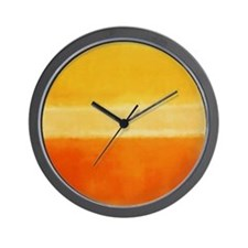 ROTHKO IN YELLOW  ORANGE Wall Clock