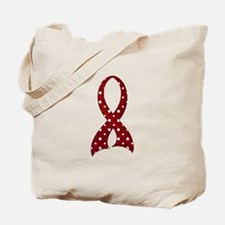 Polka Dot Ribbon Amyloidosis Tote Bag