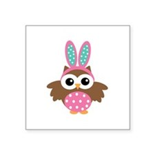 Easter bunny Owl Sticker