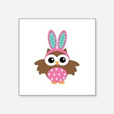 Easter bunny Owl Sticker
