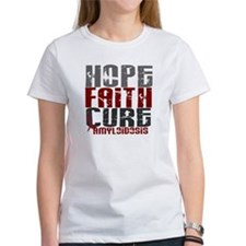 Hope Faith Cure Amyloidosis Tee