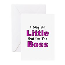 I'm The Boss - Pink Greeting Cards (Pk of 10)