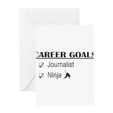 Journalist Career Goals Greeting Cards