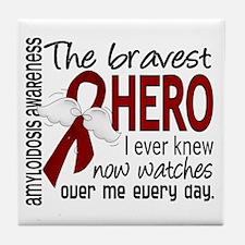 Bravest Hero I Knew Amyloidosis Tile Coaster