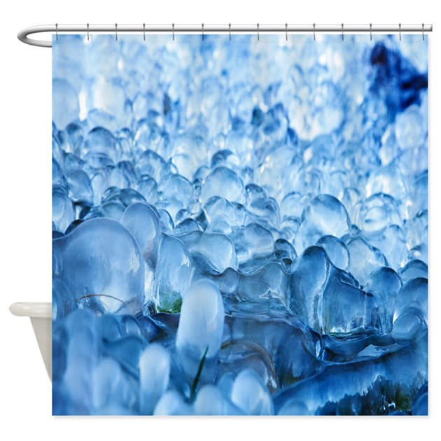 Icy Cool Shower Curtain By Crazyshowercurtains