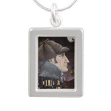 Hound of the Baskerville Silver Portrait Necklace
