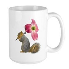 Squirrel Pink Flower Mug