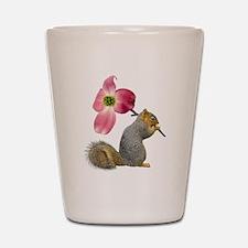 Squirrel Pink Flower Shot Glass